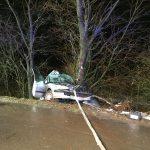 Verkehrsunfall auf der L539 - PKW prallt gegen Baum
