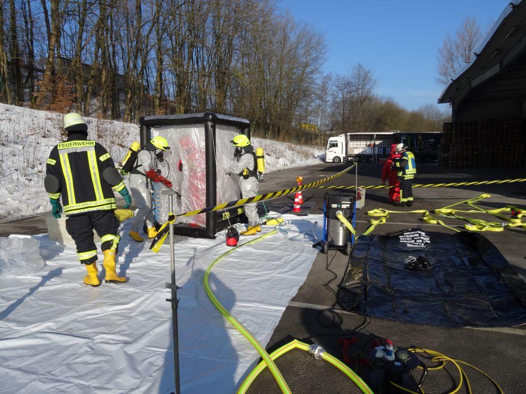 Chemieunfall bei Logistikunternehmen