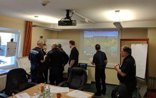 Feuerwehr Meinerzhagen führt Krisenstabsübung mit der Otto Fuchs KG durch
