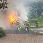 Fahrzeugbrand auf der A45