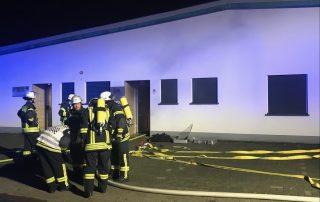 Brand in einem Werkstattgebäude - Rauchwarnmelder verhindern Schlimmeres