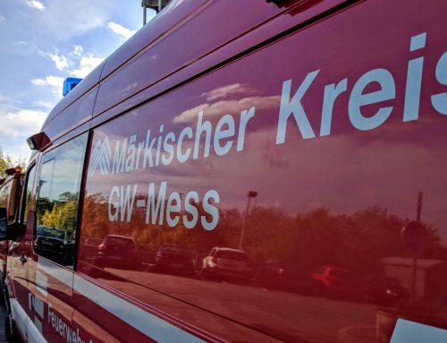 Rauchsäule zieht nach Brand in Radevormwald über den MK – Messzug im Einsatz