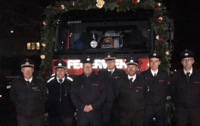 Fahrzeugübergabe des neuen HLF 20 im Löschzug Valbert