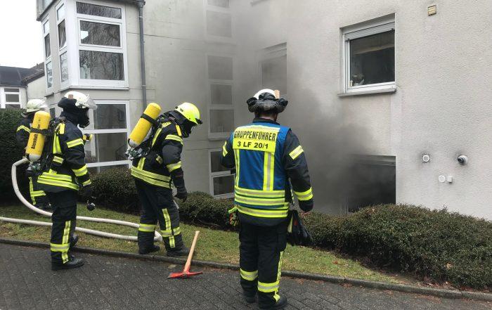 Zimmerbrand in der Waldstraße