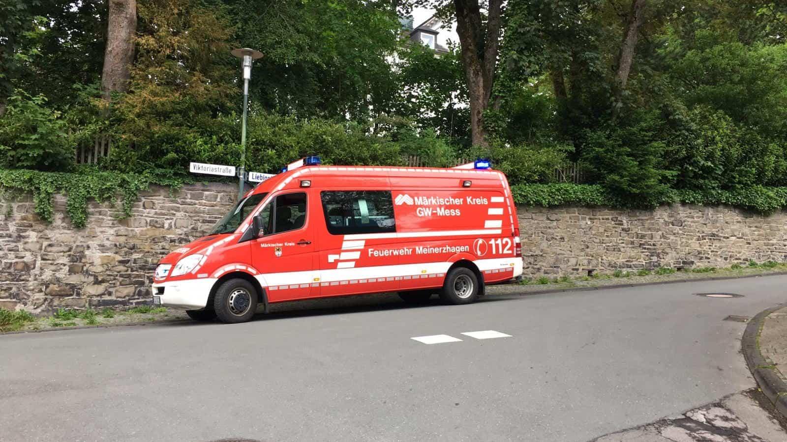 Feuerwehr Meinerzhagen unterstützt beim Großeinsatz in Lüdenscheid