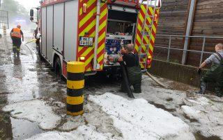 Schweres Unwetter in der Innenstadt hält die Feuerwehr in Atem
