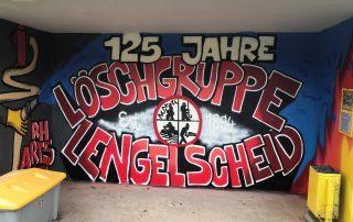 125 Jahre jung - cooles Graffiti weist auf Jubiläumsfest hin
