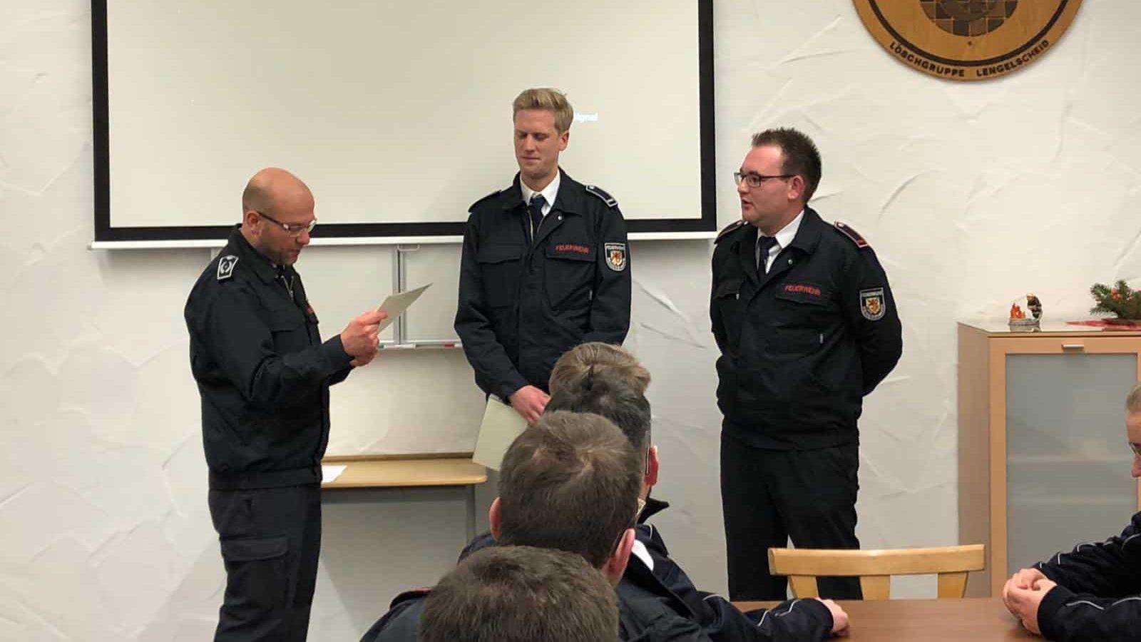 Neue Einheitsführung der Löschgruppe Willertshagen ernannt