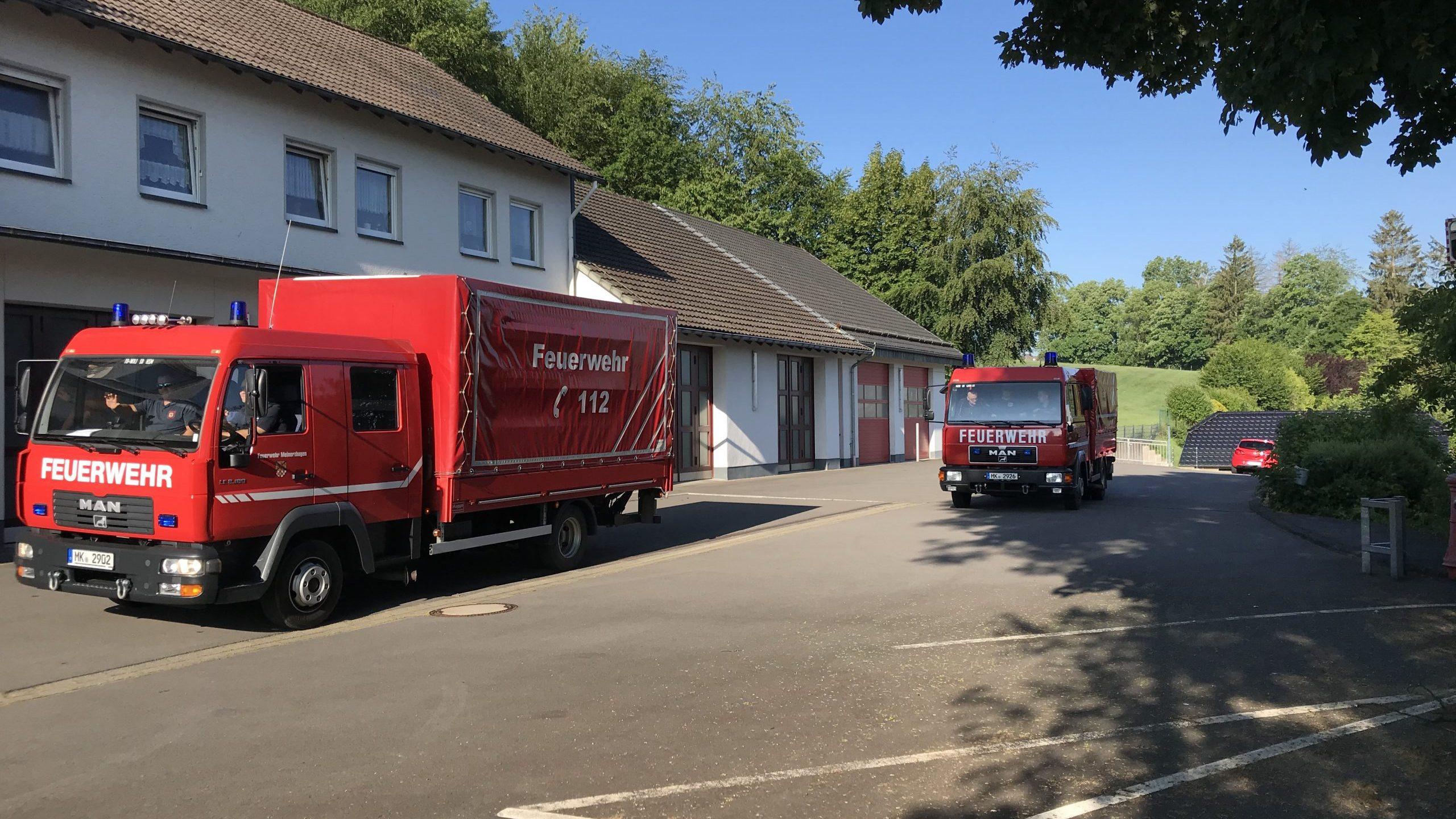 Wir für den MK - Feuerwehr unterstützt erneut bei der Verteilung von Schutzausrüstung