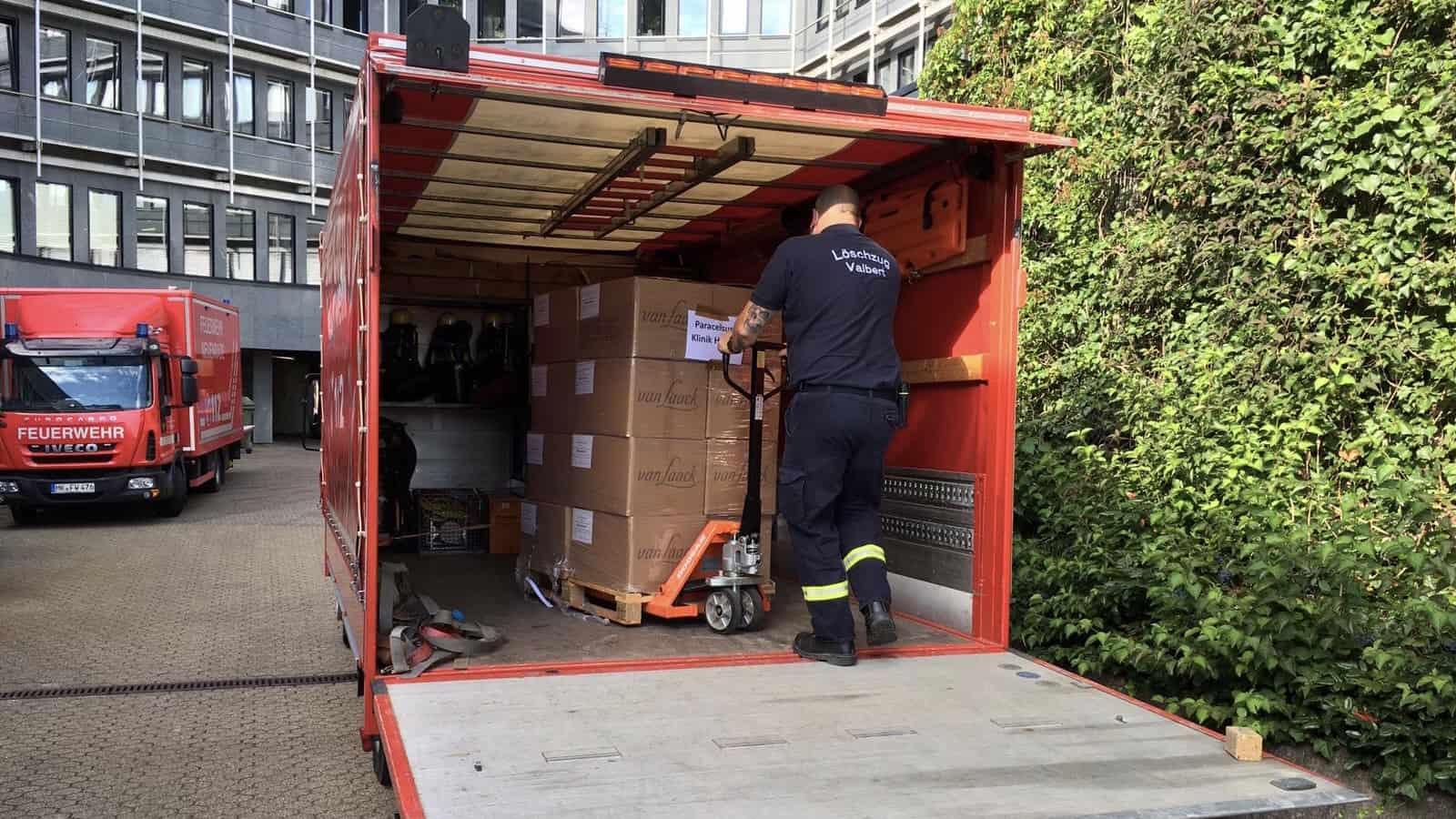 Aller guten Dinge sind drei: Dritter COVID-19-Logistikeinsatz für die FW Meinerzhagen