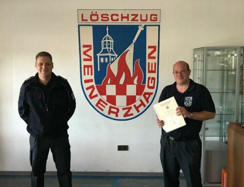 Sven Schulte ist neuer Hauptbrandmeister im Löschzug Meinerzhagen