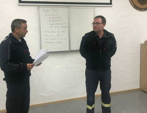 Dominik Mühle zum Oberbrandmeister befördert