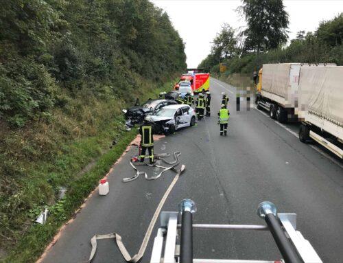 Schwerer Verkehrsunfall auf der L539
