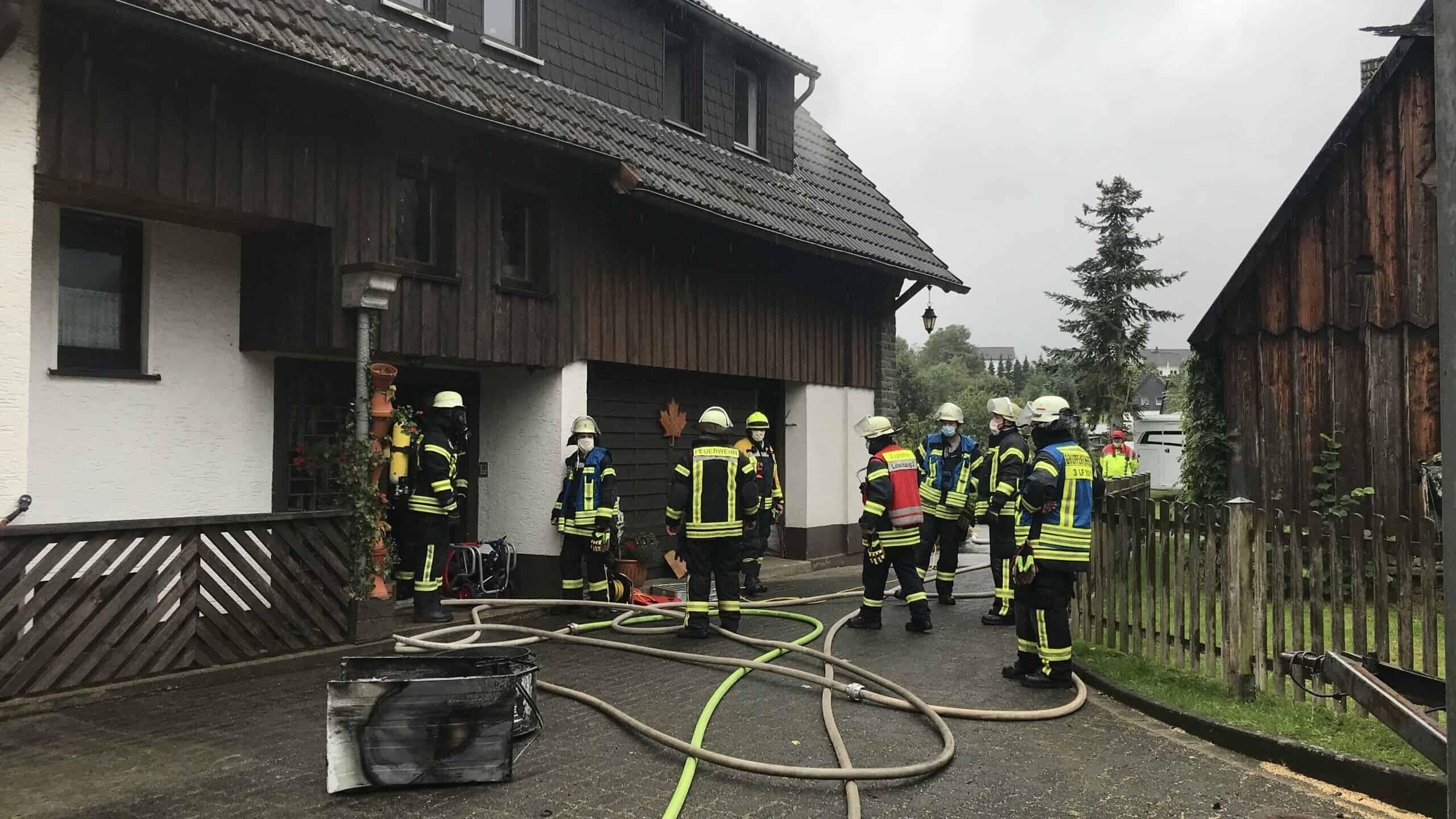 Brennender Wäschetrockner verursacht Feuerwehreinsatz in Valbert