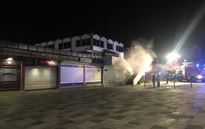 Feuer in Tiefgarage