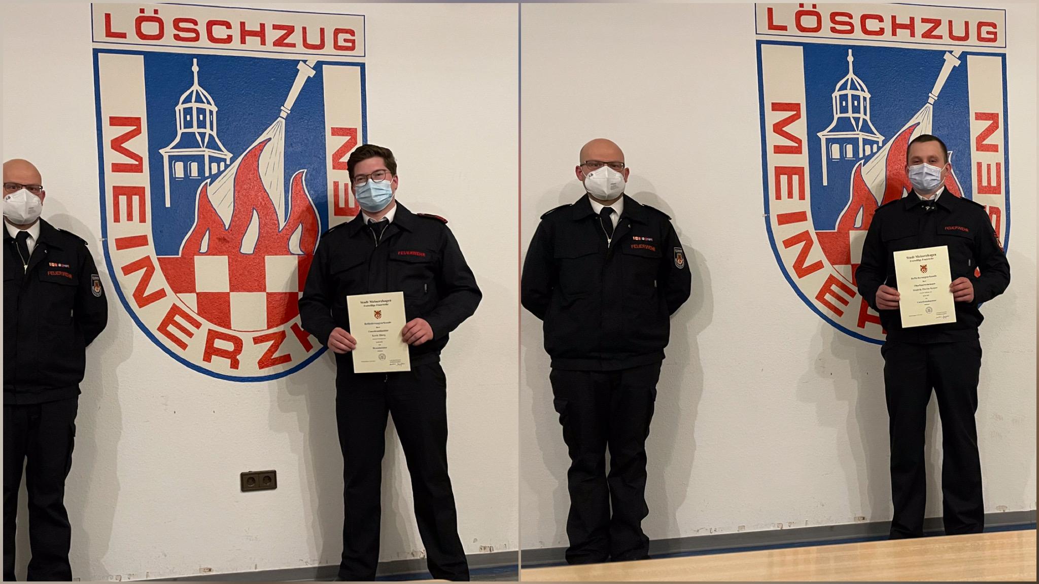 Beförderungen im LZ Meinerzhagen und der LG Willertshagen